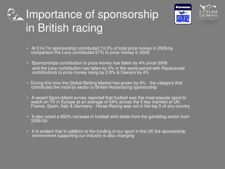 Importance of sponsorship