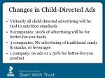 changes in child directed ads