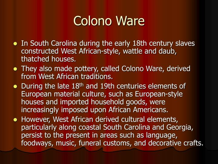 Colono Ware
