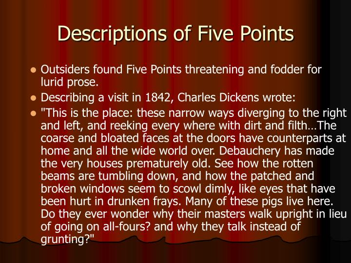 Descriptions of Five Points
