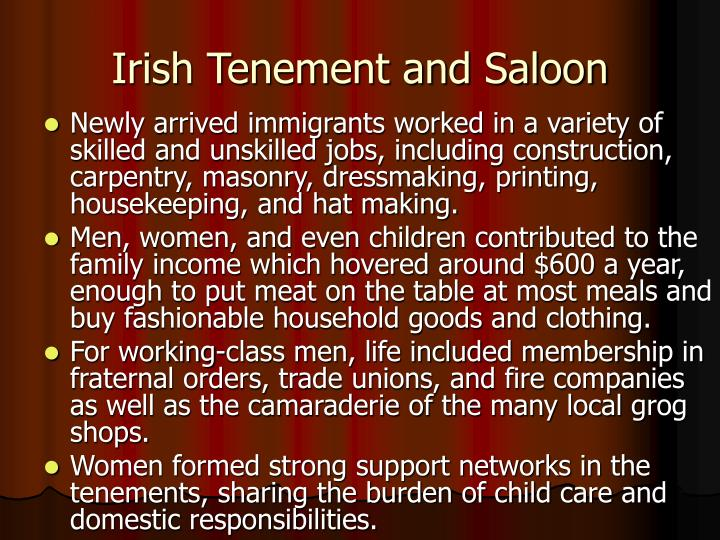 Irish Tenement and Saloon
