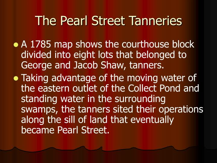 The Pearl Street Tanneries