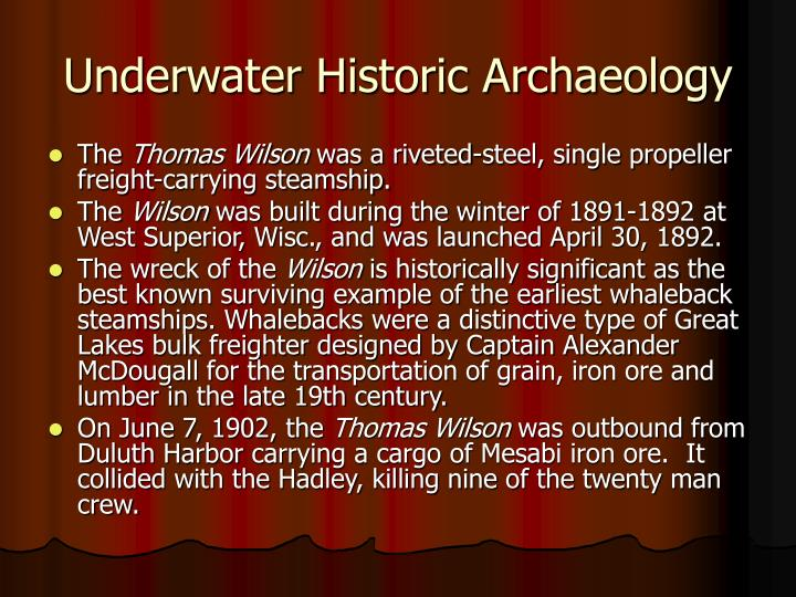 Underwater Historic Archaeology
