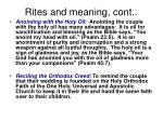 rites and meaning cont