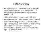 emg summary