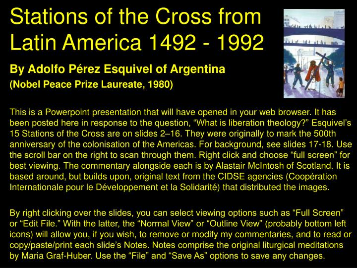 stations of the cross from latin america 1492 1992 n.