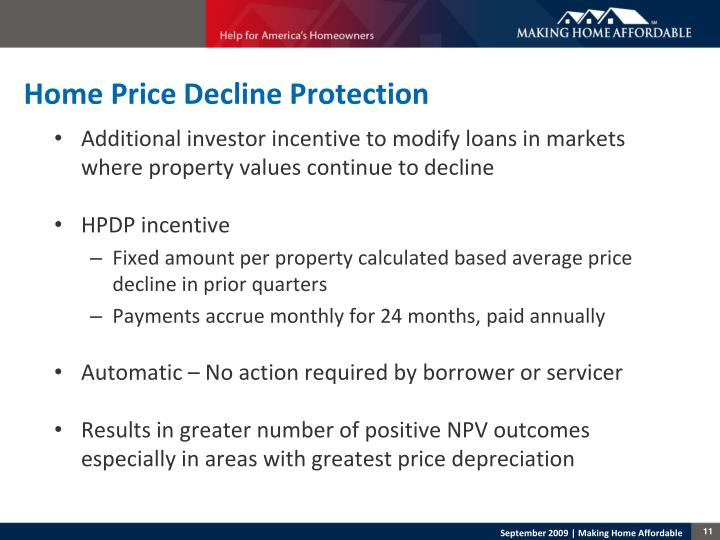 Home Price Decline Protection