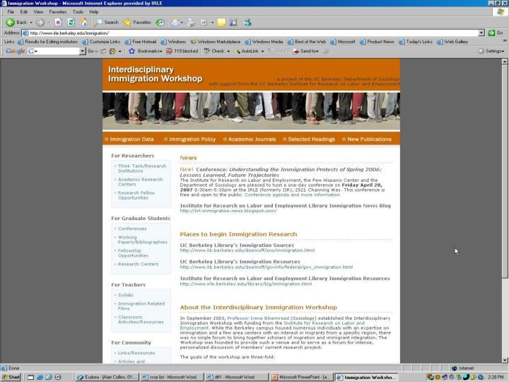 SCREENSHOT IRENE WEB