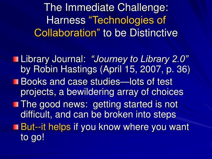 The Immediate Challenge: