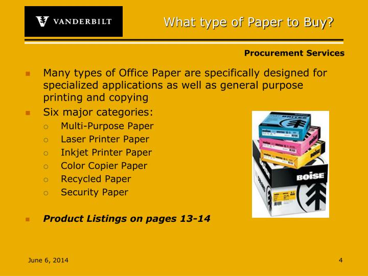 What type of Paper to Buy?