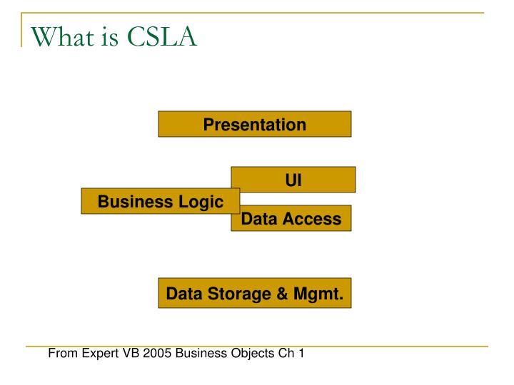 What is CSLA
