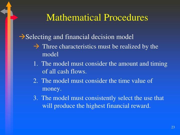 Mathematical Procedures