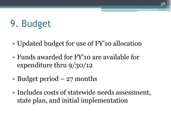 9. Budget