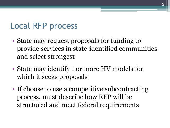 Local RFP process