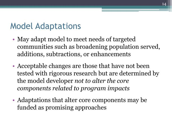Model Adaptations