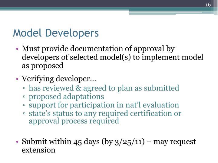 Model Developers