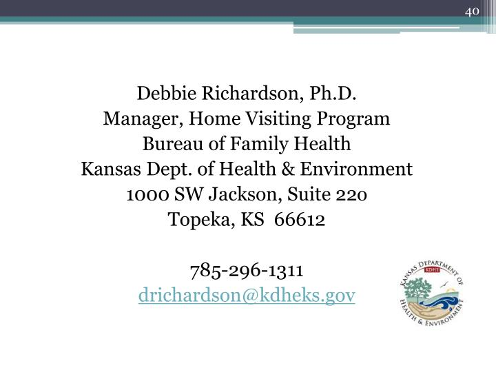 Debbie Richardson, Ph.D.