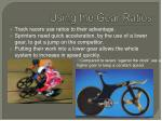 using the gear ratios