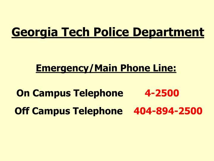 Georgia Tech Police Department