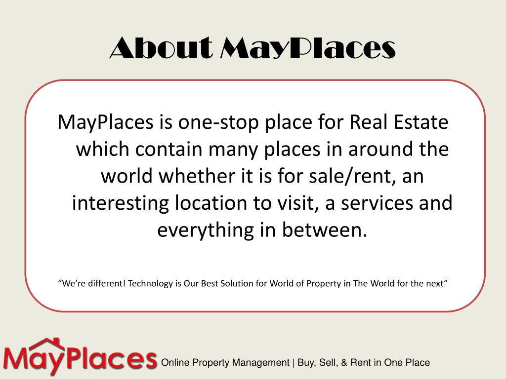 About MayPlaces