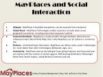 mayplaces and social interaction