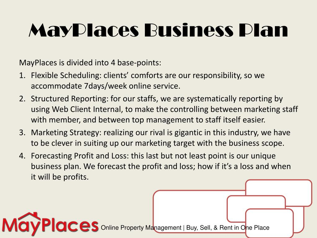 MayPlaces Business Plan
