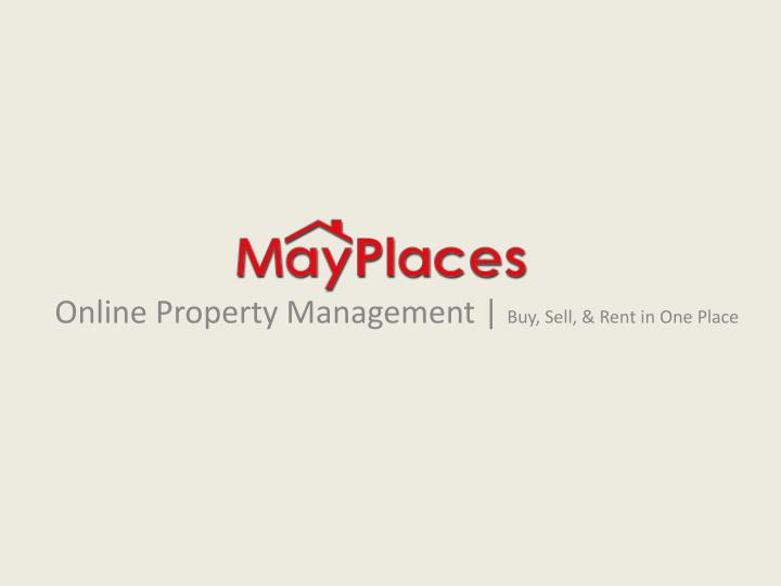 Online property management buy sell rent in one place