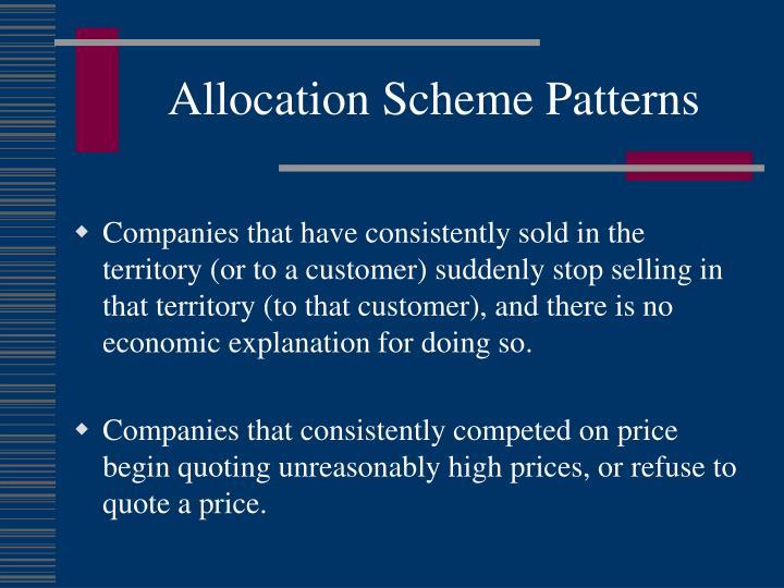 Allocation Scheme Patterns