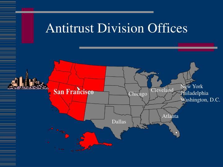 Antitrust division offices