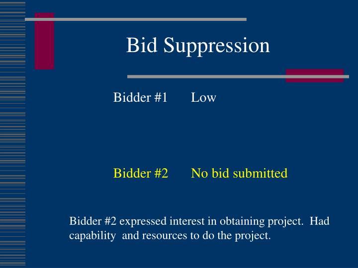 Bid Suppression