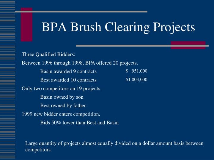 BPA Brush Clearing Projects