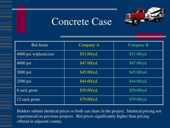 Concrete Case