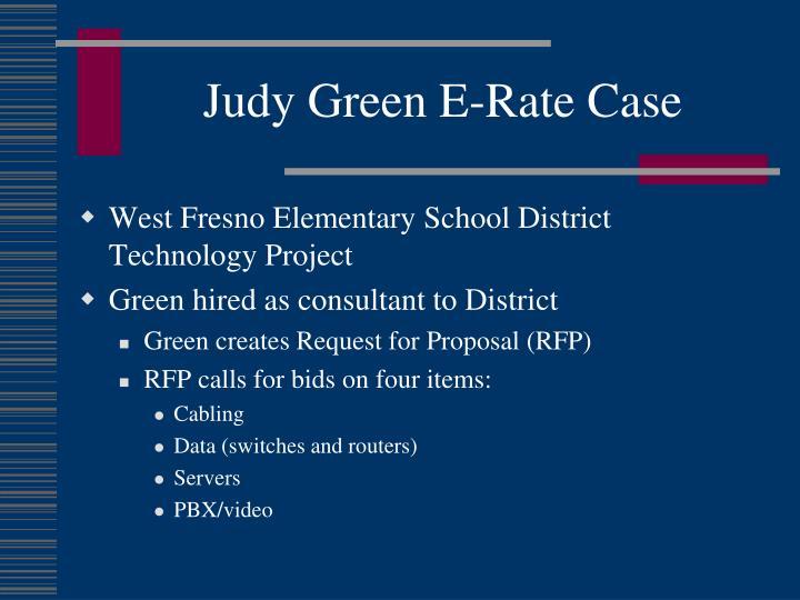 Judy Green E-Rate Case