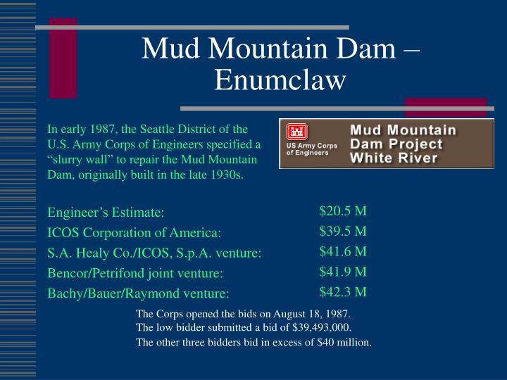 Mud Mountain Dam –  Enumclaw