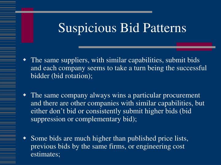 Suspicious Bid Patterns