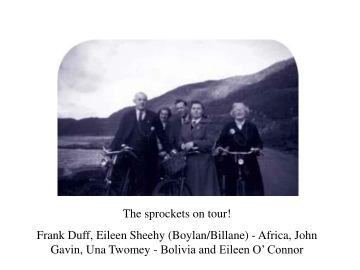 The sprockets on tour!
