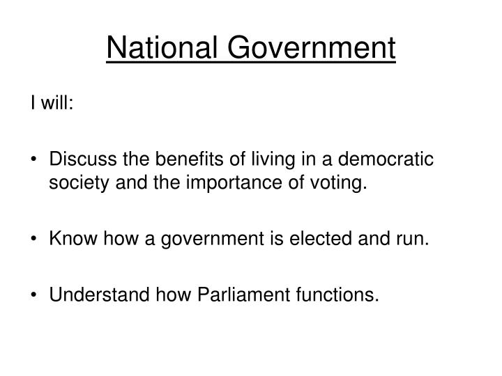 national government n.