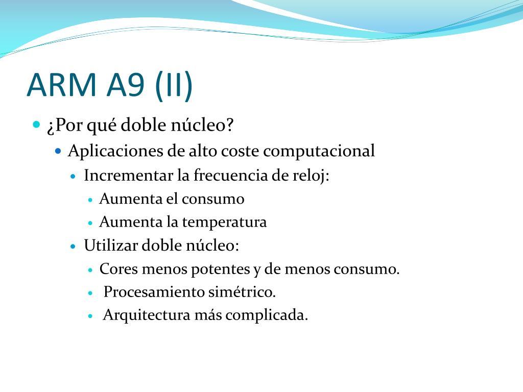 ARM A9 (II)