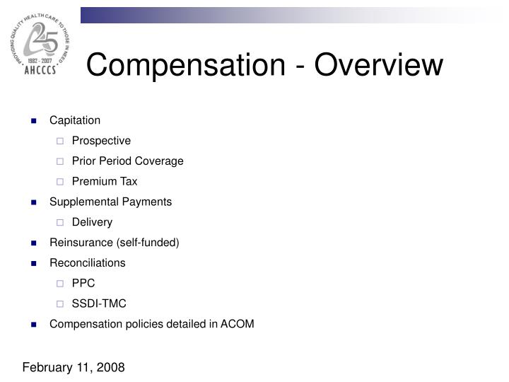 Compensation - Overview