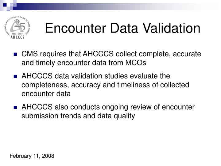 Encounter Data Validation