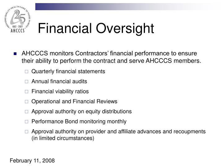 Financial Oversight