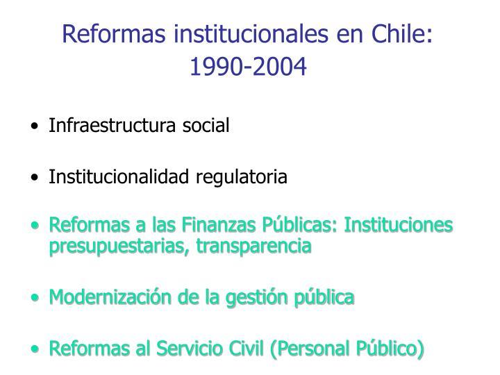 Reformas institucionales en Chile: