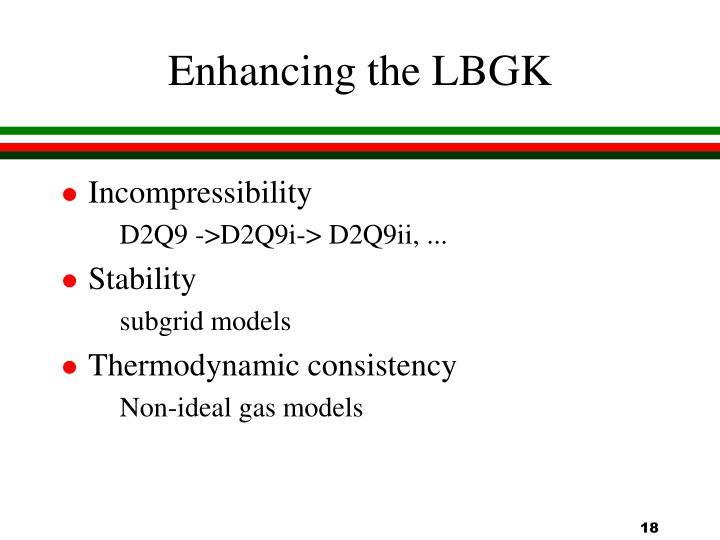 Enhancing the LBGK