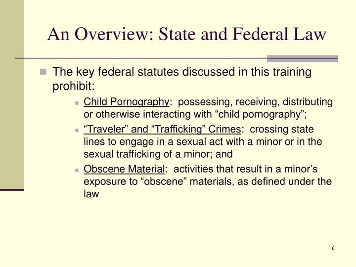 An Overview: State and Federal Law