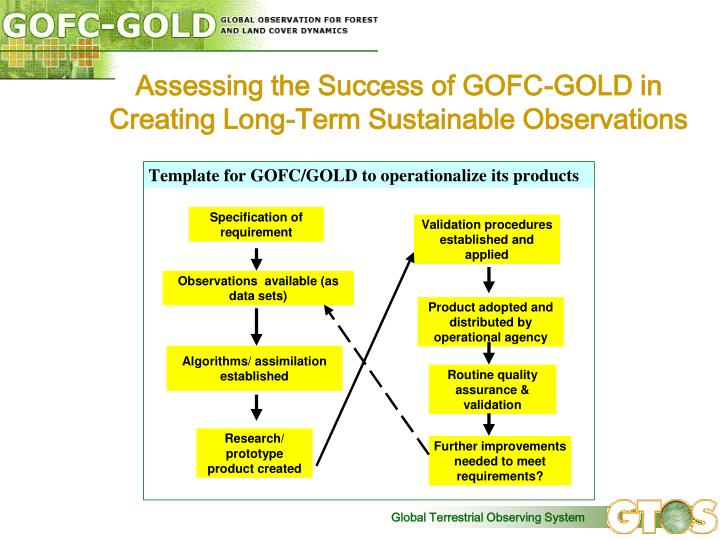 Assessing the Success of GOFC-GOLD in Creating Long-Term Sustainable Observations