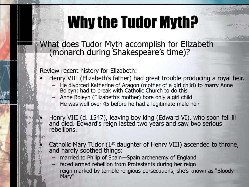 PPT - The Tudor Myth PowerPoint Presentation, free ...