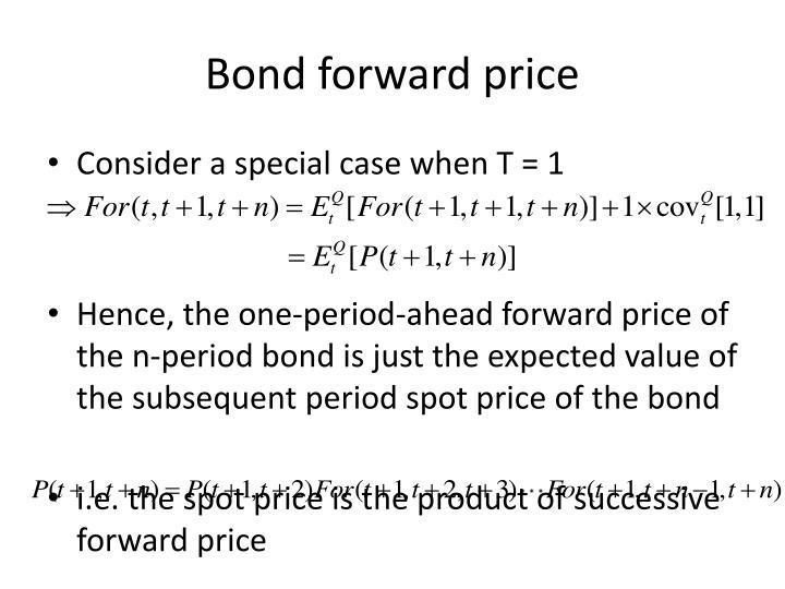 Bond forward price