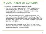 fy 2009 areas of concern3