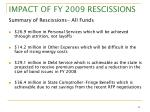 impact of fy 2009 rescissions4