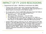 impact of fy 2009 rescissions9